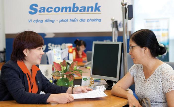 Khách hàng vay tín chấp tại ngân hàng Sacombank