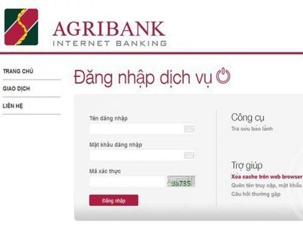 Kiểm tra số dư ngân hàng Agribank qua Internet Banking