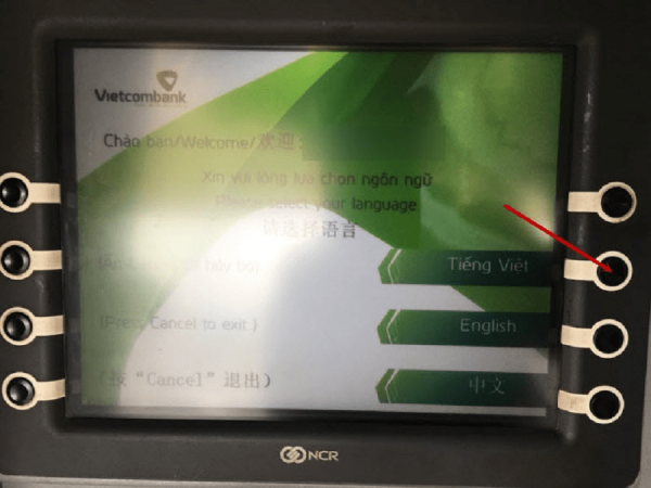 chuyển tiền trực tiếp tại ATM