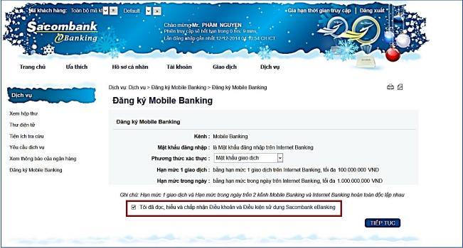 cài đặt internet banking sacombank