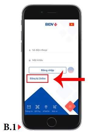 đăng ký bidv online