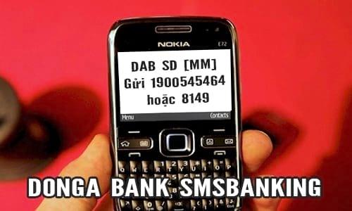 Kiểm tra số dư tài khoản ngân hàng Đông Á qua SMS