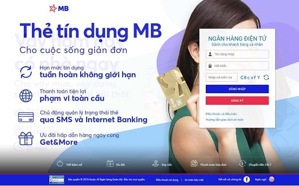 Kiểm tra số tài khoản ngân hàng qua MB e-Banking