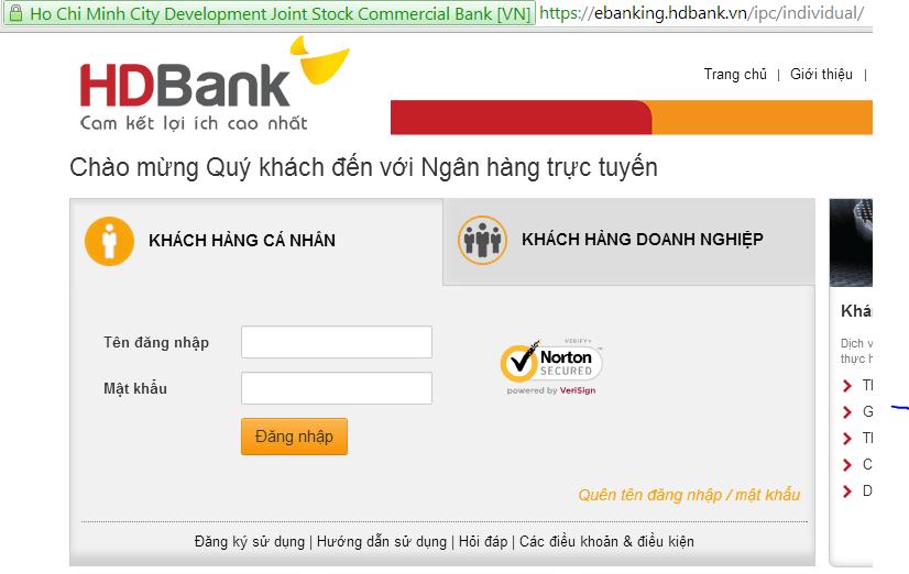 Tra cứu số dư tài khoản ngân hàng HDBank qua Internetbanking