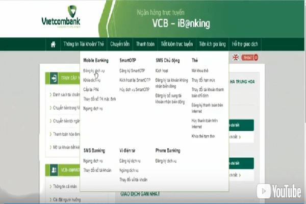 hủy dịch vụ bank plus Vietcombank
