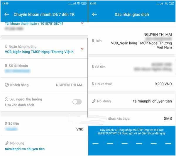 cách chuyển khoản ngân hàng Vietinbank