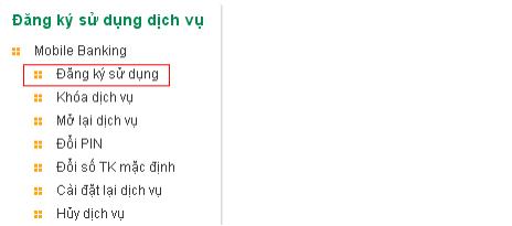 đăng kí mobile banking Vietcombank