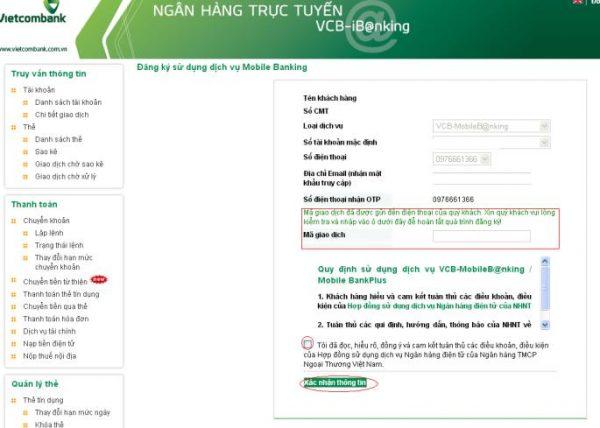Mobile Banking Vietcombank