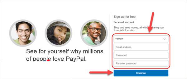 Mở tài khoản Paypal