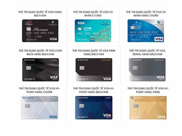Thẻ Visa ngân hàng Shinhanbank