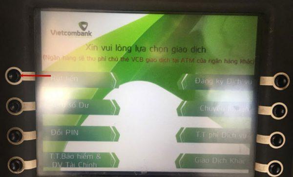 rút tiền thẻ ATM tại cây an toàn