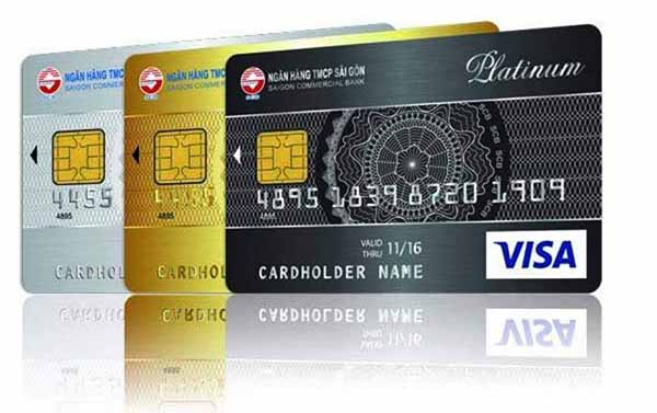 Thẻ Visa ngân hàng SCB
