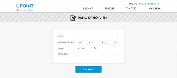 Đăng ký mở thẻ tín dụng Lotte