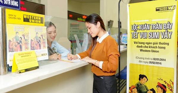 Chuyển tiền Western Union ra nước ngoài