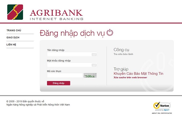 Tra cứu số tài khoản ngân hàng Agribank qua Internet Banking