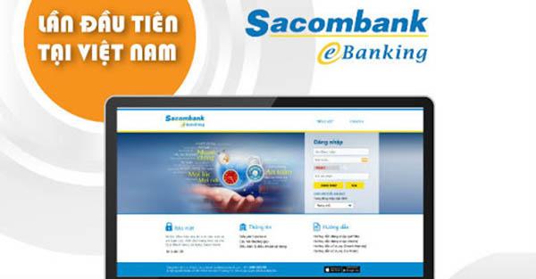 Internet Banking ngân hàng Sacombank