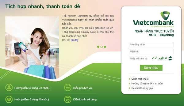 Internet Banking của Vietcombank hoàn toàn miễn phí