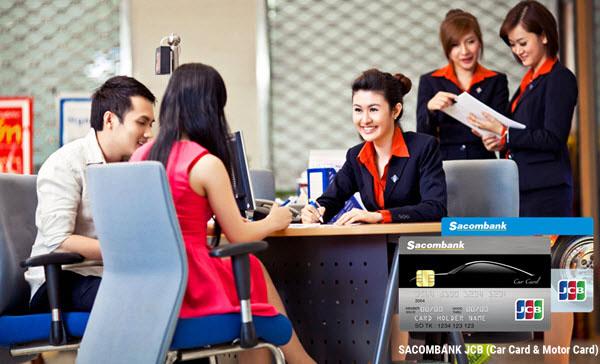 Đăng ký mở thẻ tín dụng Sacombank tại quầy giao dịch