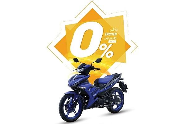 Lãi suất mua xe máy Exciter 150 trả góp