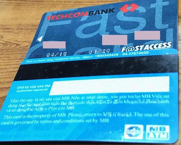 Thẻ ATM nội địa Techcombank