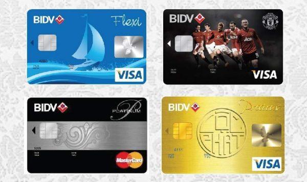 Các loại thẻ ngân hàng BIDV