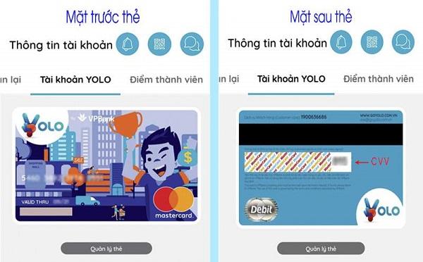 Làm thẻ ảo YOLO MasterCard