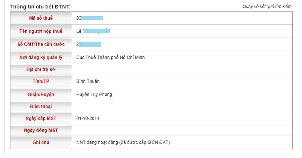 Kết quả tra cứu CMND Online trả về những thông tin gì?