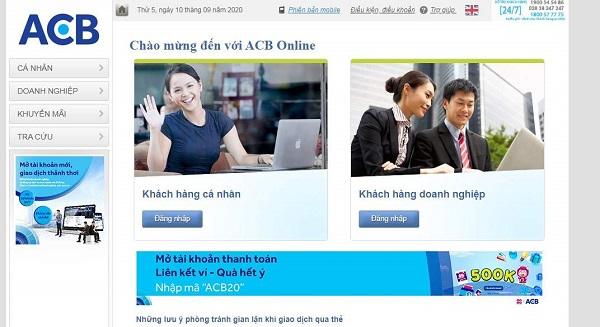 Cách chuyển tiền ACB qua Internet Banking