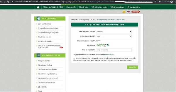 Cách chuyển tiền ngân hàng Vietcombank