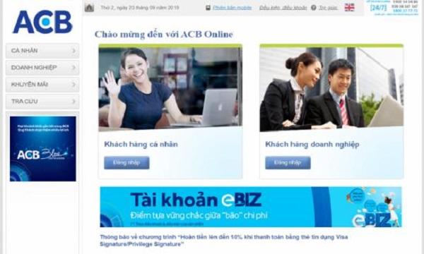Hướng dẫn cách gửi tiết kiệm Online ngân hàng ACB