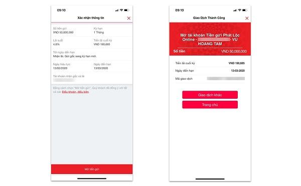 hướng dẫn gửi tiền tiết kiệm ngân hàng Techcombank online