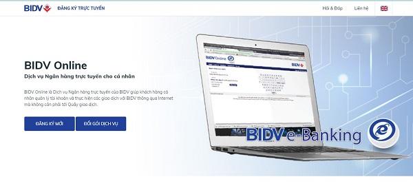 Đăng ký dịch vụ BIDV Online