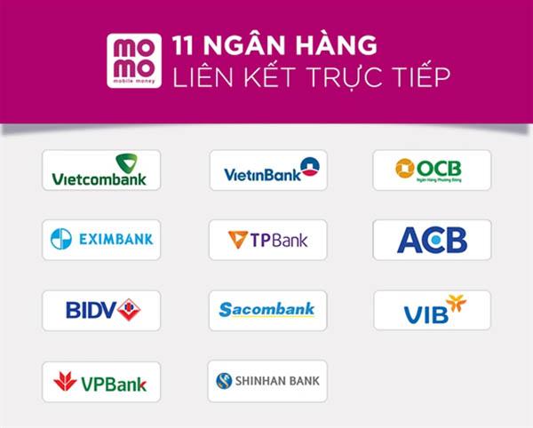ngân hàng liên kết với ví momo