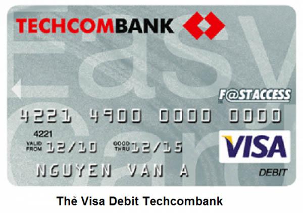 Thẻ Visa Debit ngân hàng Techcombank