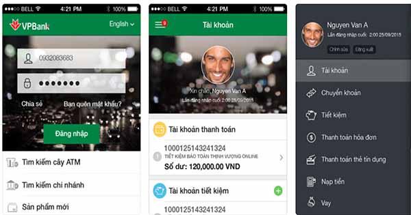 Tra cứu số tài khoản qua VPBank Mobile