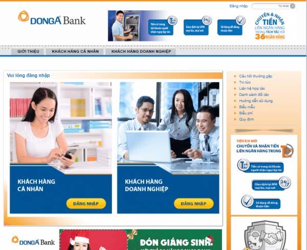 Kiểm tra số dư tài khoản ngân hàng Đông Á qua Internet Banking
