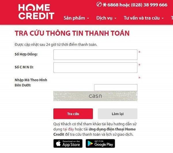 Cách kiểm tra hợp đồng trả góp Home Credit