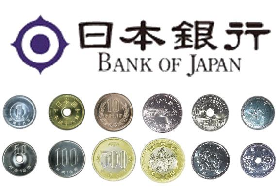 Các mệnh giá đồng Yên bằng tiền kim loại