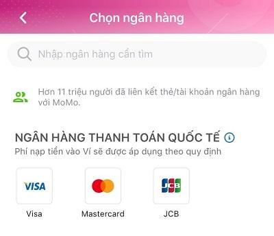 Chọn loại thẻ thanh toán quốc tế