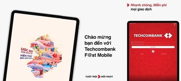 Bạn được miễn phí chuyển tiền trên Techcombank F@st Mobile