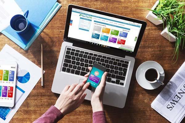 Nạp tiền điện thoại trên website các nhà mạng