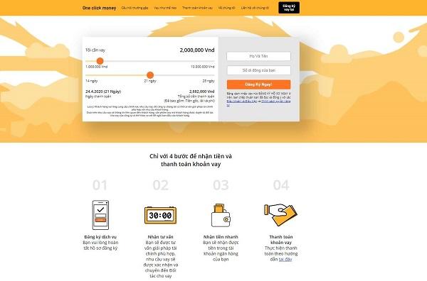 Hướng dẫn cách đăng ký vay tiền Online OneClickMoney