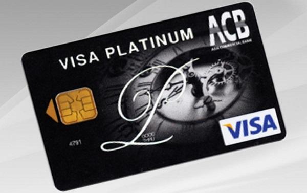 Thẻ tín dụng ACB Visa Platinum, World MasterCard