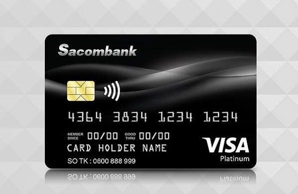 Thẻ tín dụng đen SacomBank Visa Platinum
