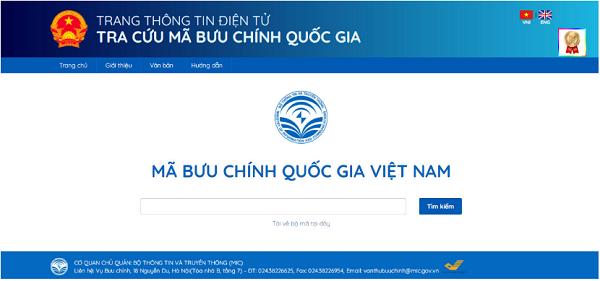 Hướng dẫn cách tra cứu mã bưu chính Hà Nội trực tuyến